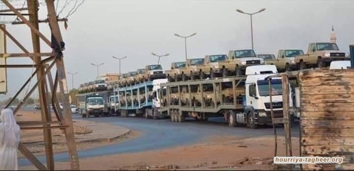 السعودية ترسل شحنات أسلحة وآليات لقمع المتظاهرين في السودان