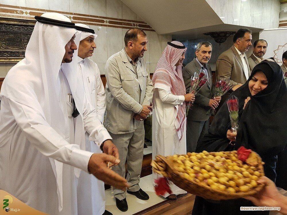 سلطات الحج السعودية تستقبل إيرانيين بالورود والحلويات