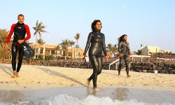 الفساد في البر والبحر .. مدرسة سعودية لتعليم الغوص لكلا الجنسين