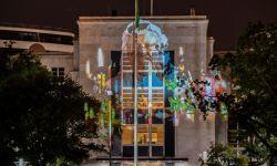 صورة ضوئية لخاشقجي على واجهة مبنى سفارة الرياض في واشنطن