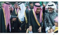أول ظهور لسلمان بن عبدالعزيز مع اثنين من كبار أمراء سجن الكارلتون