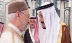 بعد أيام من استقباله «القرضاوي».. العاهل السعودي يتناول الإفطار مع«الغنوشي»