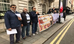 لندن: محتجّون يطالبون السعودية بوقف عدوانها على اليمن
