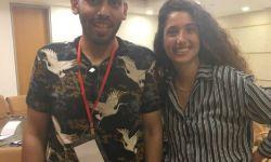 المتصهين محمد سعود ينشر صورة مثيرة مع فتاة صهيونية