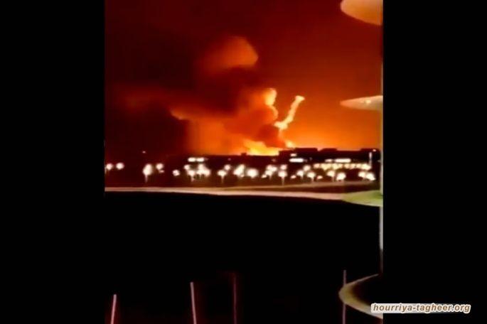 ألسنة النيران طالت عنان السماء.. شاهد الصواريخ والمسيرّات اليمنية تدك أرامكو و أهدافا أخرى في جيزان