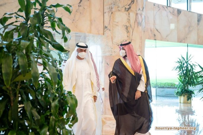 أوّل لقاء بين محمد بن سلمان ومحمد بن زايد بعد خلافات البلدين الأخيرة