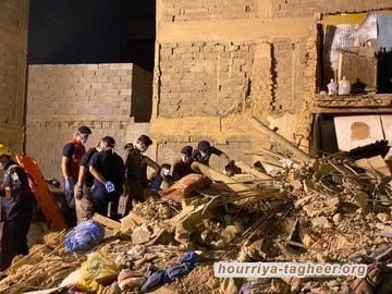 مصرع شخصين وإصابة 5 في انهيار منزل في العاصمة الرياض
