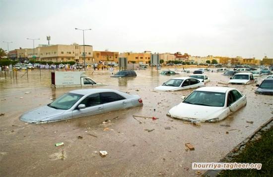الأمطار تخلف أضرارا جسيمة بالمدينة المنورة