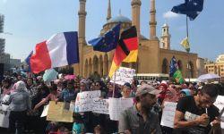 موجة احتجاجية عنيفة وسط بيروت والمحتجون يهتفون ضد آل سعود