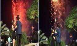 """على طريقة الغرب: """"قبلة ساخنة"""" طويلة بين ناشطة سعودية وزوجها في إحتفالات رأس السنة"""