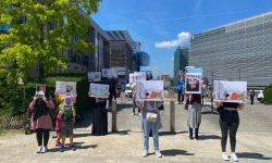 وقفة احتجاجية في بروكسل ضد زيارة رئيس المجلس الأوروبي المقررة إلى السعودية