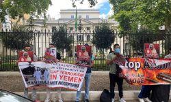 وقفة أمام سفارة آل سعود بلندن دعما للمعتقلين ولليمن