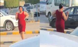 سيدة بفستان فاضح في شوارع الرياض تثير غضبا